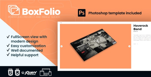 BoxFolio   Project, Portfolio and Image Slider Plugin - CodeCanyon Item for Sale