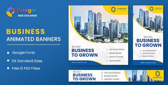 Business Grown Animated Banner GWD