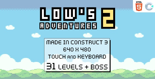 Low's adventures 2 - HTML5 Platform game - CodeCanyon Item for Sale