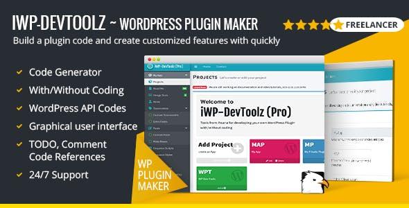iWP-DevToolz v2 - WordPress Plugin Code Generator