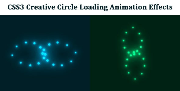 CSS3 Creative Circle Loading Animation Effects