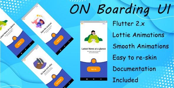 OnBoarding UI FLUTTER - CodeCanyon Item for Sale