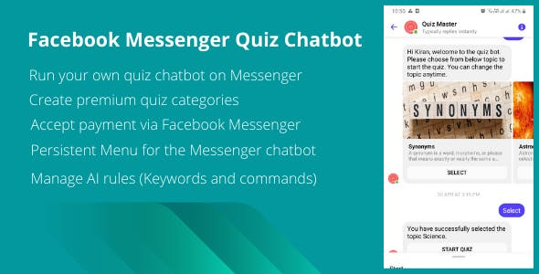 Quizy - Facebook Messenger Quiz Chatbot