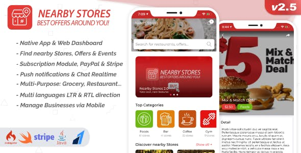 Nearby Stores iOS - Offers, Events, Multi-Purpose, Restaurant, Services & Booking 2.5