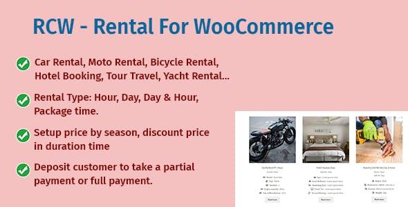 RCW - Rental For WooCommerce