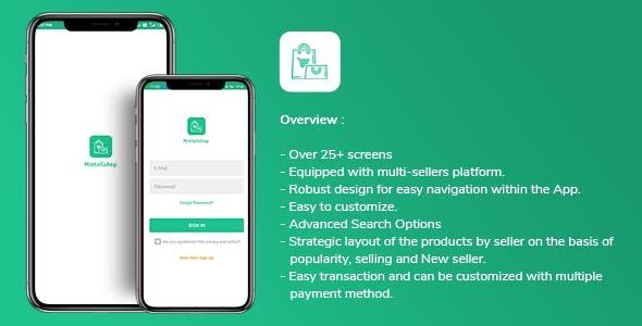 Multi-seller eCommerce MRetailshop Android Application