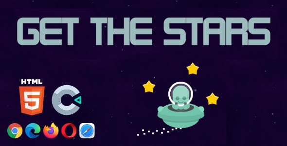 Get the Stars - HTML5 Game (Construct 3)
