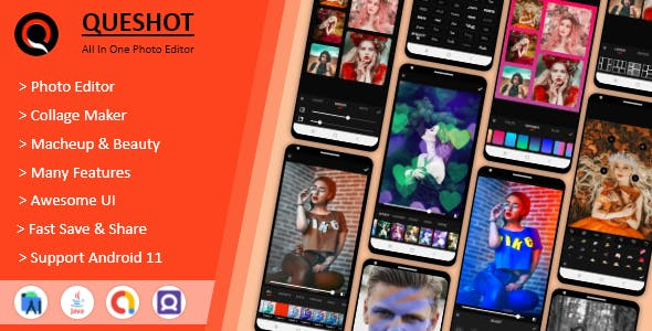 QueShot Photo Editor Pro - Collage Maker, Makeup & Beauty - All In One Photo Editor.
