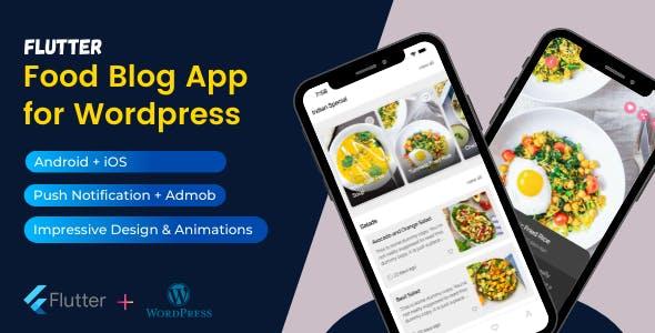 Recipe Hour - Flutter Mobile App for Wordpress