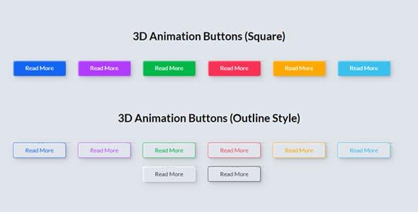 3D Animation Buttons