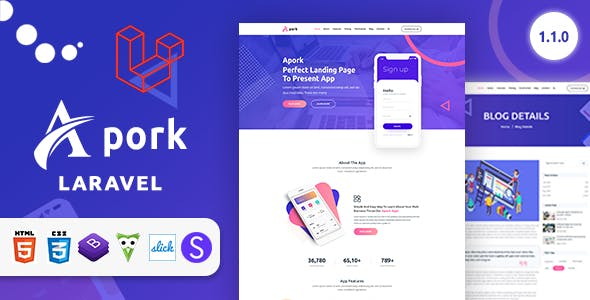 Apork - Product Landing Business Management System