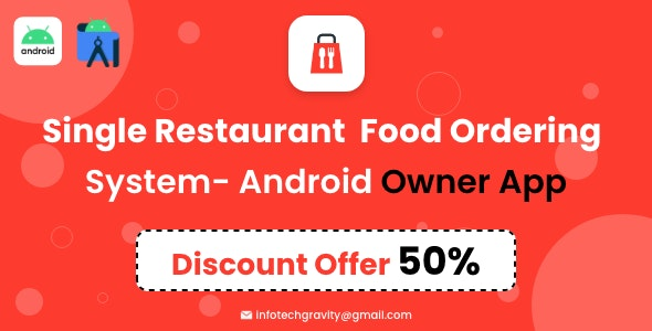 Single Restaurant - Android Owner App - CodeCanyon Item for Sale