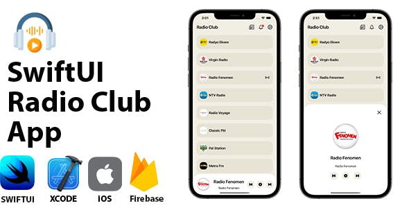 Radio Club App | SwiftUI Full iOS Application