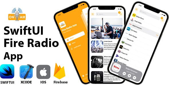 SwiftUI Fire Radio App | Full iOS Application