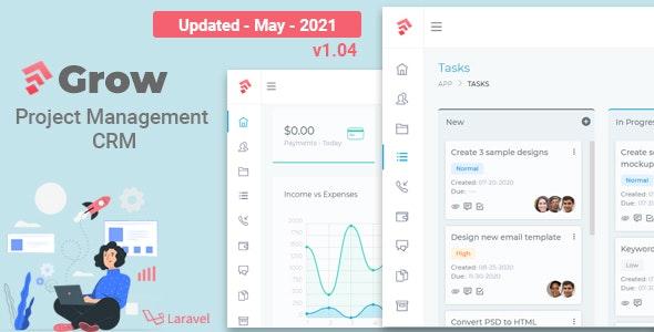 Grow CRM v1.04 – Laravel Project Management