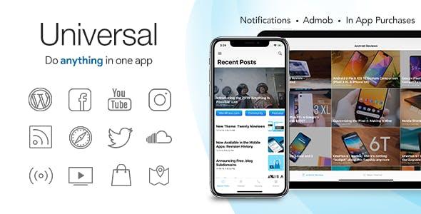 Universal for IOS - Full Multi-Purpose IOS app