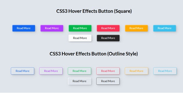 CSS3 Hover Effects Button - CodeCanyon Item for Sale