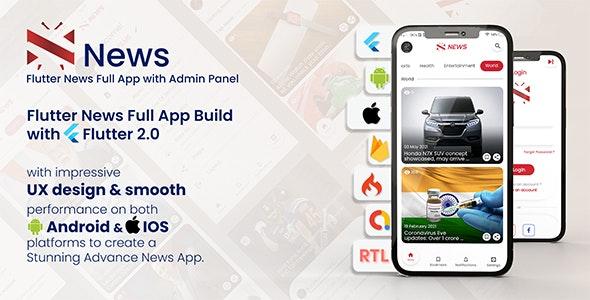 News - Flutter News Full App - CodeCanyon Item for Sale