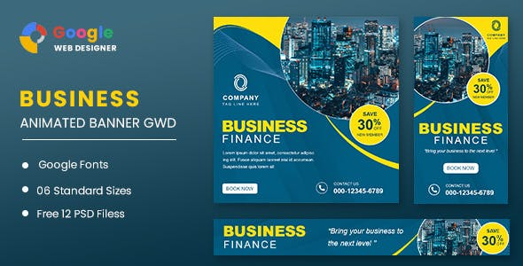 Business Finance Animated Banner GWD