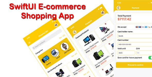 SwiftUI E-Commerce Shopping App Template