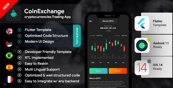 Cryptocurrency Trading Android App Template +  iOS  App Template   FLUTTER 2   Coinexchange