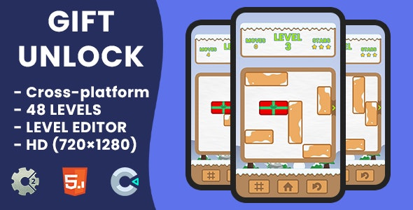 Gift Unlock - HTML5 Game   Construct 2 & Construct 3 - CodeCanyon Item for Sale