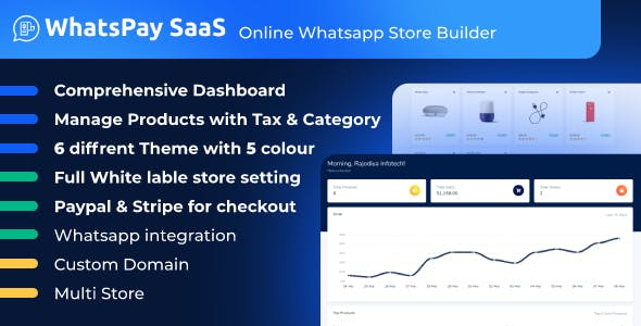 WhatsPay SaaS - Online WhatsApp Store Builder
