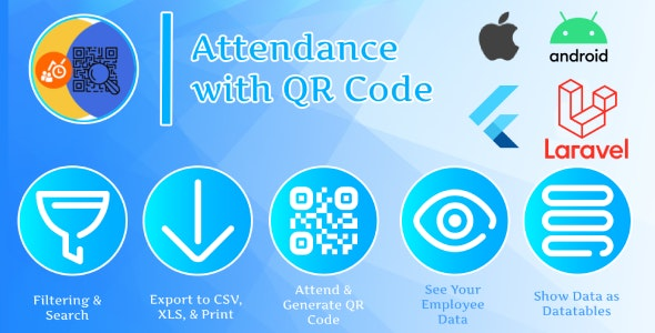 Attendance with QR (Flutter + Laravel) - CodeCanyon Item for Sale