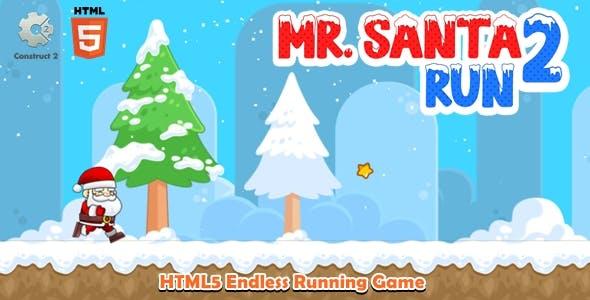 Mr Santa Run 2 - Construct 2 Html5 Game