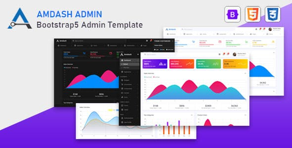 Amdash - Bootstrap 5 Admin Template