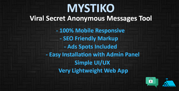 Mystiko - Viral Secret Anonymous Messages Tool - CodeCanyon Item for Sale