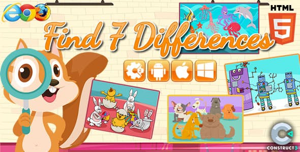 Find differences - HTML5 Game  (CAPX)