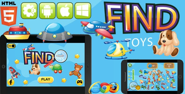 Find Toys - HTML5 Game - Construct 3 (c3p) - CodeCanyon Item for Sale