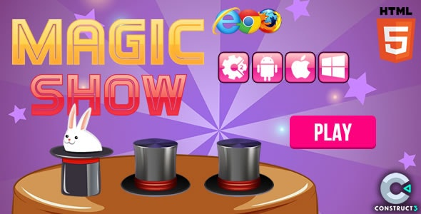 Magic Show - HTML5 Game (Construct 3) c3p - CodeCanyon Item for Sale