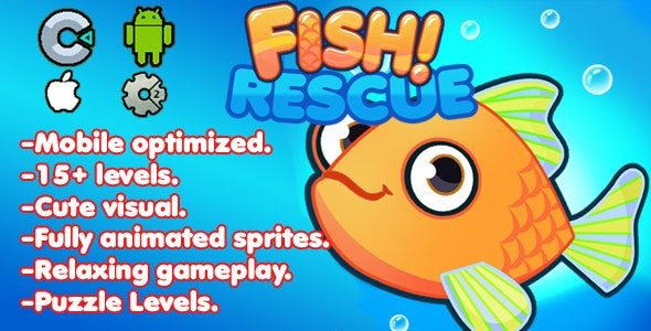 Fish Rescue! ( C3P + CAPX + HTML5) - CodeCanyon Item for Sale