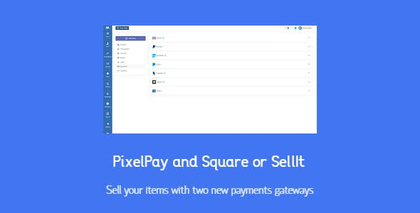 PixelPay and Square for SellIt