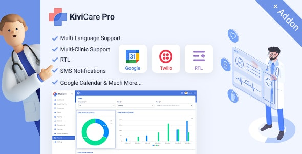 Kivicare Pro - Clinic & Patient Management System EHR (Add-on) - CodeCanyon Item for Sale