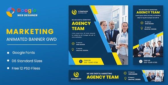 Digital Marketing Animated Banner GWD