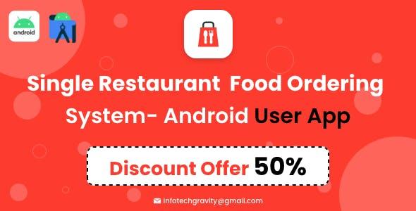 Single Restaurant - Android User App