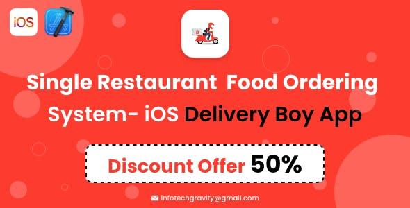 Single Restaurant - iOS Delivery boy App