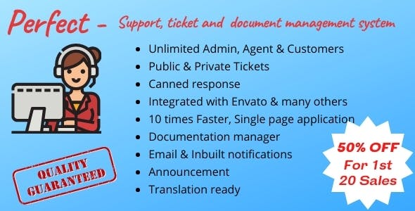 Perfect Support ticketing & document management system