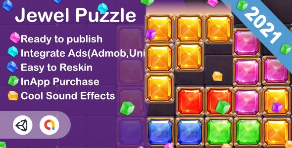 Jewel Puzzle(Unity Game+Admob+iOS+Android)