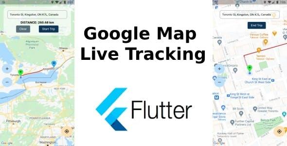 Flutter Live Tracking Google Map