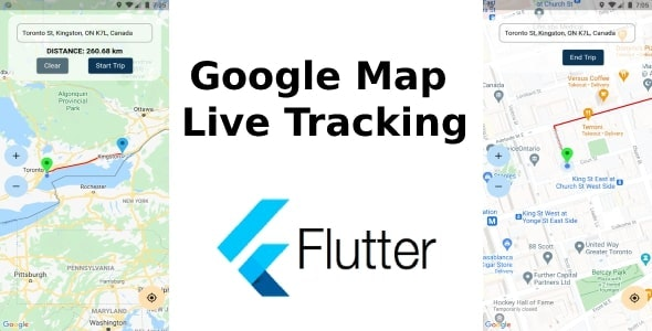 Flutter Live Tracking Google Map - CodeCanyon Item for Sale
