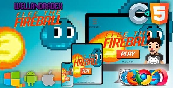Flee The Fireball - GAME HTML5 (construct 2/3)