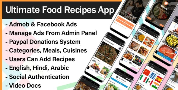 Ultimate Food Recipes App with Admin Panel