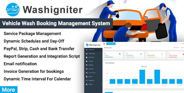 Washigniter - Vehicle Wash Booking Management System - CodeCanyon Item for Sale