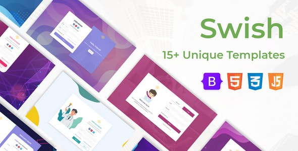 Swish | Login and Register Form Templates Pack - CodeCanyon Item for Sale