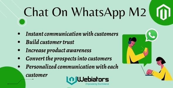 Magento 2 Whatsapp Live chat By Webiators - CodeCanyon Item for Sale