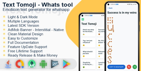 Text Tomoji - Whats tool emoticon text generator for whatsapp - CodeCanyon Item for Sale